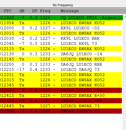 FT8 qso