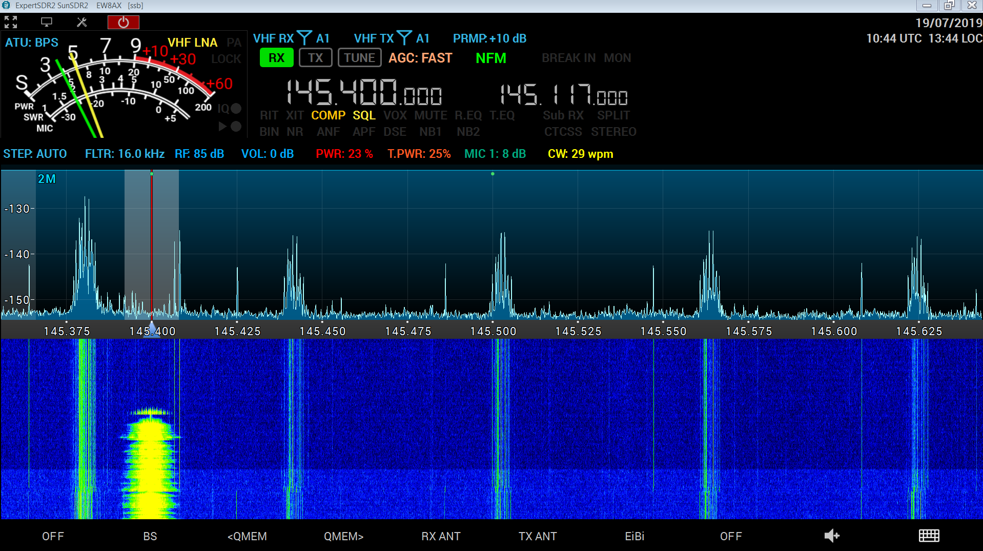 ew8ax MB1 software on Sunsdr2